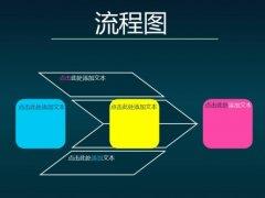 时尚现代纯色撞击商务PPT模板示例4