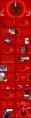 渐变红商务大气工作报告模板示例4