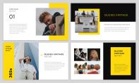 【简约商务】黄色大气欧美商务风简约杂志PPT模板示例3