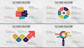 创意多色炫彩扁平可视化商业图表合25套【第一期】