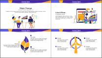 【商务中国】创意插画公司企业工作总结汇报PPT示例3