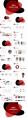 【形状美学】清新简约通用商务模板-02红黑示例3