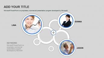 精美实用欧美风商务团队介绍展示模板示例6