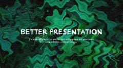绿叶幻想·唯美·时尚·油画质感实用模板