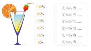 鸡尾酒进度条动态百分比数据分析