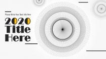 【-创意圆形射线-】极简国际化时尚高端创意报告模板