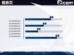 无限展望天空蓝色商务PPT模板示例5