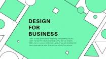 【创意•简约】大气商务时尚几何图形PPT模板01示例2