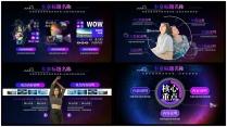【科技、艺术、设计】黑色星空商务PPT模板示例4