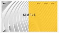 【简约商务】创意多排版多用途总结报告商务汇报模板9