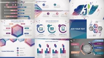 欧美立体 商务 创意 潮流 色彩 模板 时尚 示例6