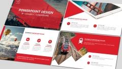 【RED】红色(三十一)商务工作报告模板【133】