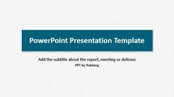 【来自单色系的PPT】深蓝极简欧美答辩科技报告模版