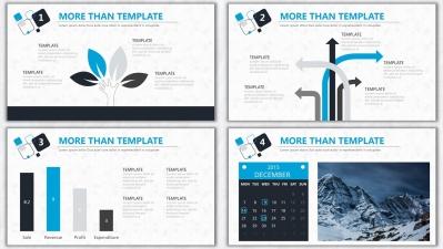 欧美杂志排版简洁高端实用ppt模板20
