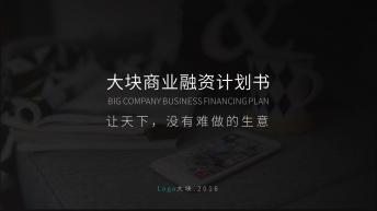 【超实用的→】简约大气商业计划书多用途通用模板06