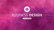 紫色水彩创意排版商务通用PPT模板