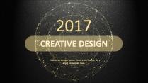 金色年终总结商务报告工作计划项目策划模板系列五