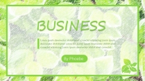 【B】清新活力黄绿树叶通用模板