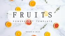 清新水果派时尚杂志风多用途通用模板