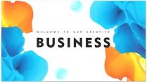 【創意水彩】現代商務匯報總結報告工作計劃模板