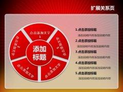 红色华表政府工作报告PPT模板示例6