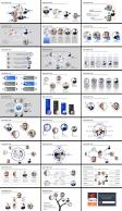 精美实用欧美风商务团队介绍展示模板示例9