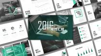 灰绿色年终汇报商务模板