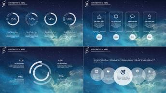 【星空-动态】现代商务总结汇报模板02示例4
