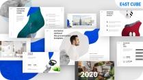 【极简】清新纹理欧美科技公司商务展示通用模板