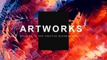 【抽象艺术】现代商务工作计划项目汇报通用模板