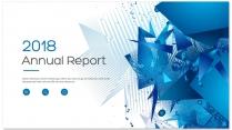 创意几何蓝色总结报告工作计划商务策划模板04