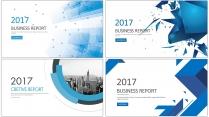 创意蓝色总结报告工作计划商务策划模板合集【含四套】
