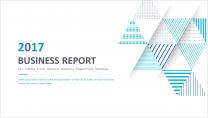 【几何艺术】清新简约商务通用报告模板-11蓝色