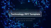 蓝色大气科技风商务汇报PPT模板