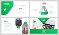 【經典商務】24P綠色沉穩企業公司匯報PPT模板示例4
