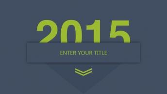 2015商务大气简洁PPT模板