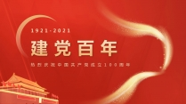 【党政】建党百年两会党政报告宣传模板