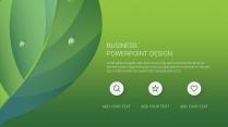 绿色自然工作报告PPT模板【160】示例5