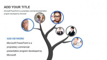 精美实用欧美风商务团队介绍展示模板示例8
