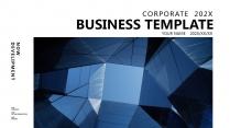 【高屋建瓴】極簡藍色高端大氣輕奢商務報告年終匯報