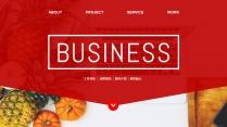 【双配色】大图网页风实用公司项目工作PPT模板