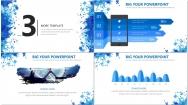 水彩风商务PPT模板5(蓝色)示例6