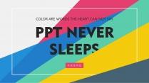 【四种配色】清新多彩简约实用多图表导航栏扁平化模板