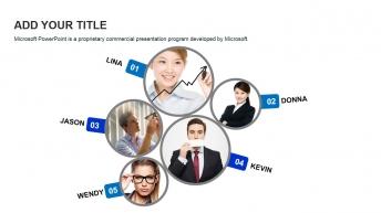 精美实用欧美风商务团队介绍展示模板示例4