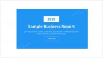 【极简设计 第8弹】简约大气通用商务报告模板-蓝色