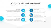 【扁平】可視化創意科技視覺大氣通用商業模板示例5