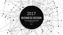 大气极简点线创意商务模板第二十五弹示例2