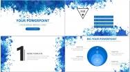 水彩风商务PPT模板5(蓝色)示例3