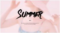 [ 夏日风情 ] 小清新少女杂志风PPT模板