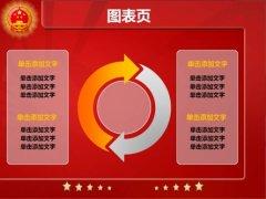 红色国徽政府工作报告PPT模板示例5